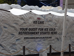 Cools Light Ice Cave - Centenary Square - sign - Your quest for ice cole refreshment starts here