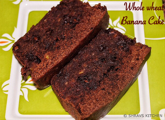 Whole Wheat Banana Chocolate Cake Recipe for Toddlers and Kids 1