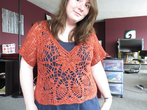 fo: Crocheted flowery top