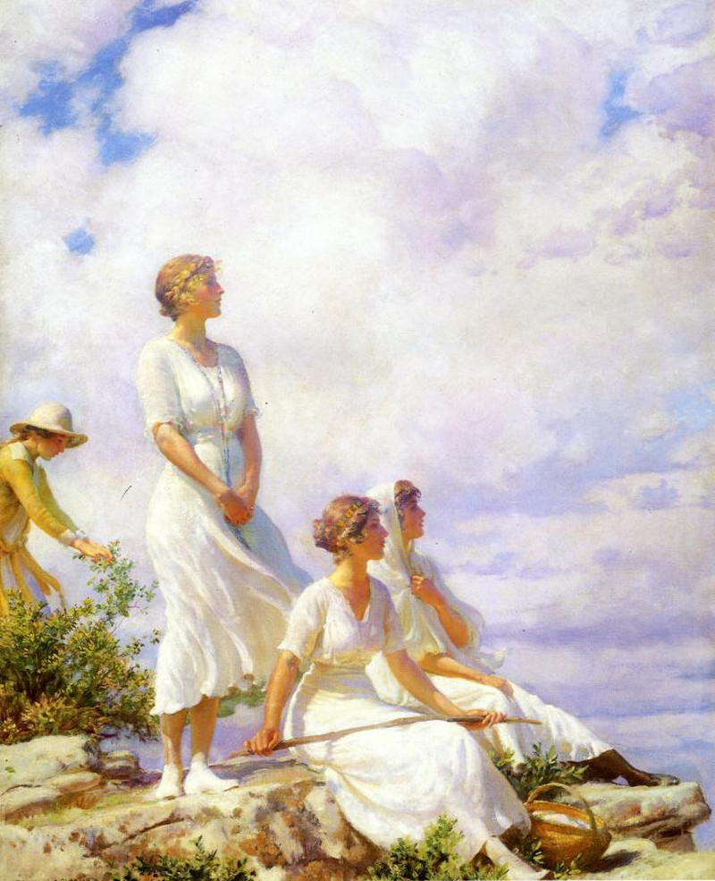 Summer Clouds by Charles Courtney Curran - 1917