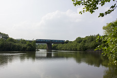 Train and water: River Ely, Cardiff
