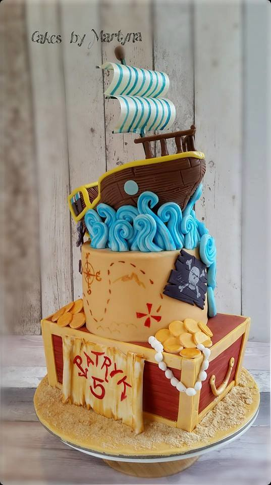 Pirates Ship Cake from Cakes by Martyna