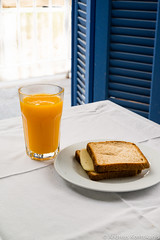 Toast with orange juice
