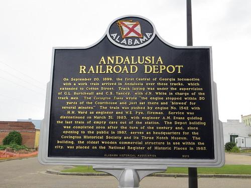 Andalusia Railroad Depot Marker Andalusia AL