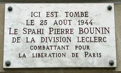 Photo of Pierre Bounin marble plaque