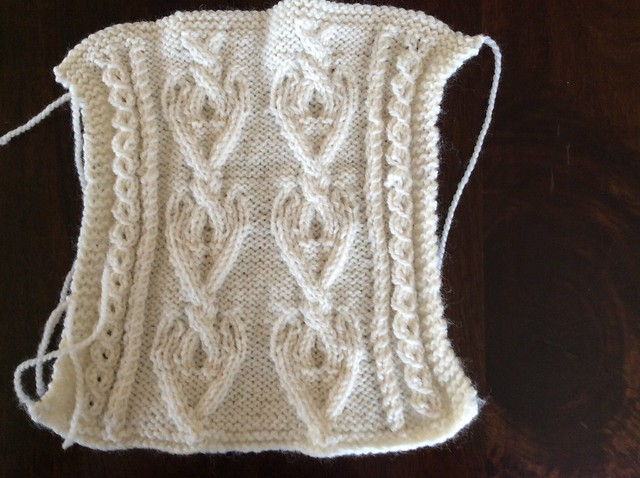 Barbara Selesnick locket Aran afghan square