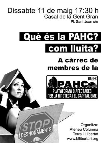 cartell xerrada què és la PAHC Bages a Berga l´11 de maig 2013