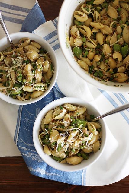 spring pea + asparagus pasta
