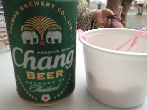 チャンビールとシュリンプのフライ@タイフェスティバル東京2013