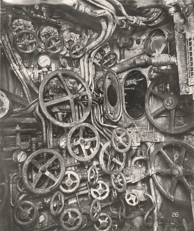 U-Boat 110, the control room looking aft, starboard side