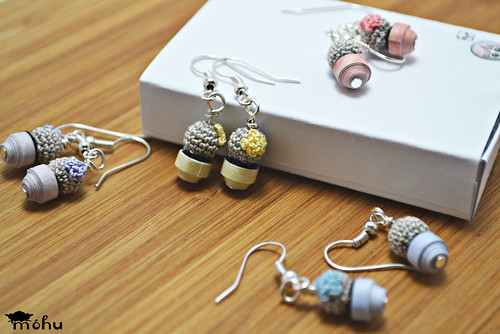 Mini cactus earrings