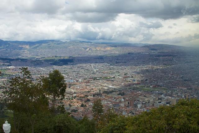 Colombia - Bogotá 005 - city view from Cerro de Monserrate