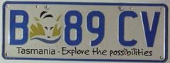 TASMANIA, AUSTRALIA 2010 ---NEWER SLOGAN LICENSE PLATE