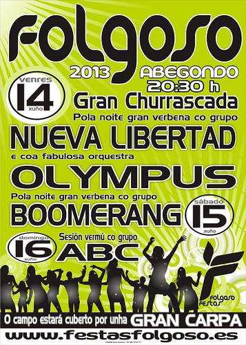 Abegondo 2013 - Festas de Folgoso - cartel