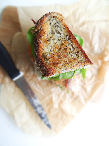swiss chard + white bean grilled sammie