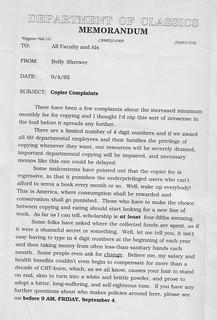 1992 Memorandum