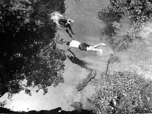 River swimming in Aude, France