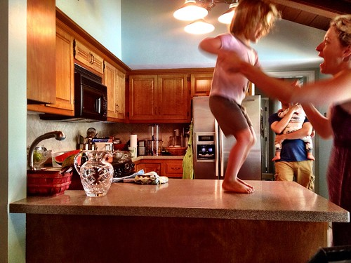 Kitchen counter dancing