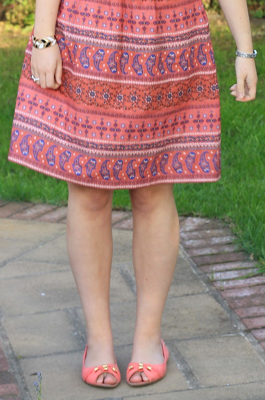 OOTD, outfit of the day, uk style blog, fat face dress, flats