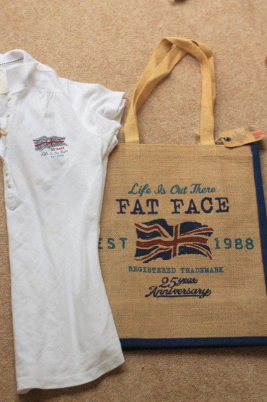 Fat face 25 year anniversary bag