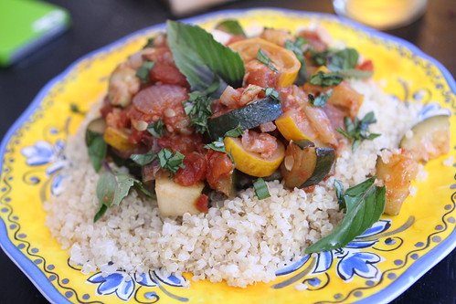 Summer Ratatouille on Quinoa