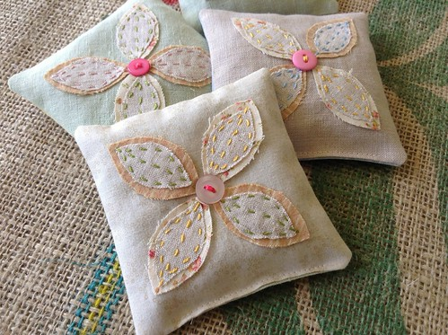 Embroidered Herbal Sachets