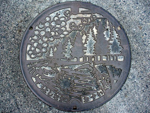 Yoshinaga Okayama , manhole cover (岡山県吉永町のマンホール)