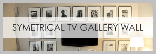 Symetrical TV Gallery Wall