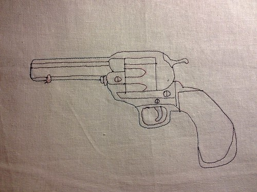 Tattoo Piece - Gun Outline