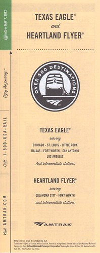 Amtrak Texas Eagle 2012 Cover