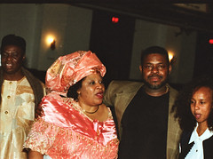 Chief Stephen Osita Osadebe (RIP) from Nigeria Hosted by  Equator Club Philadelphia Fouzia from Somalia with Nigerian People 1997 175 Fouzia & Friday