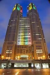 東京都庁 オリンピックライトアップ