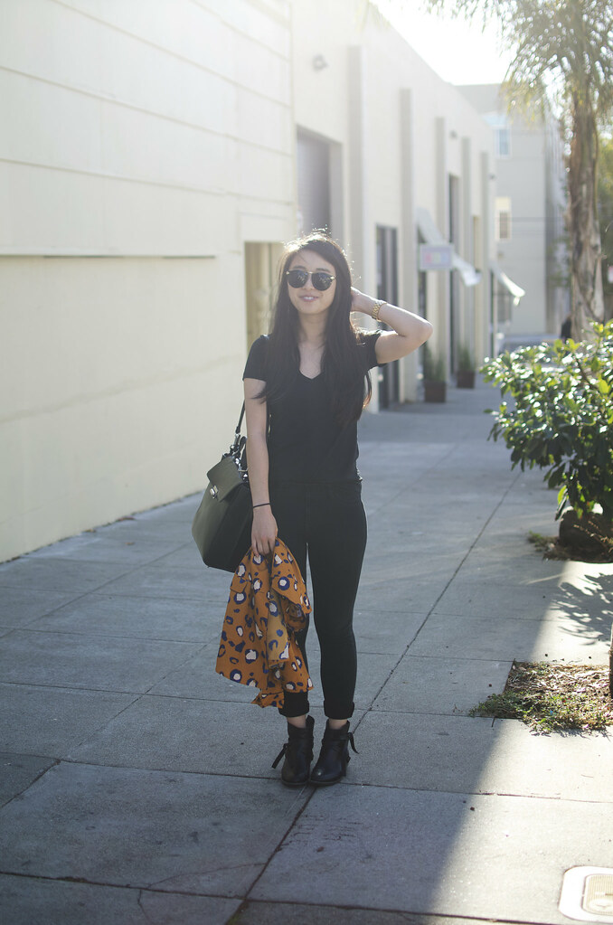 all black outfit, how to style phillip lim for target, phillip lim for target tuxedo blazer, animal print blazer, how to style leopard print, bay area style blog, bay aread fashion, sf fashion blog, readytwowear blog