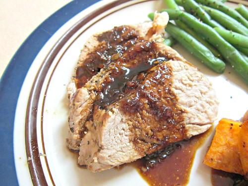 Pork Tenderloin with Balsamic Strawberry Sauce