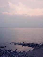 sunset over lake Baikal
