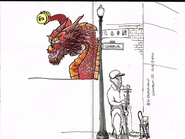sketchcrawl41-chinatownSF-dragon-mural-color