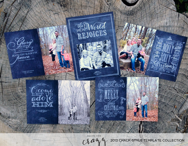 2013 chalk-style template collection for photographers