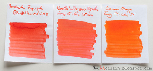 Fuyu-gaki, Dragon's Napalm, Diamine Orange