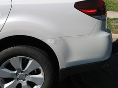 Damage to the car
