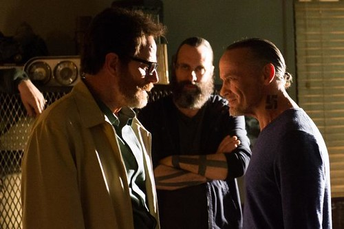 "Walter White e o nazista ""tio"" Jack Welker, do seriado Breaking Bad (2008-2013)"