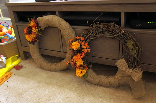 autumny wreath DIY