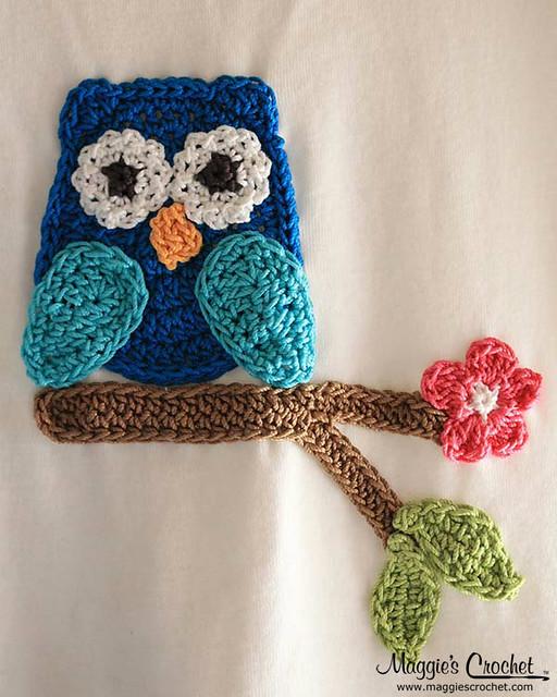 Owl T-Shirt Dress, Hat and Purse Crochet Pattern PB136 ...