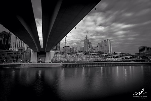bridge white black minnesota view stpaul