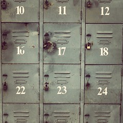 number, filing cabinet, locker, iron,