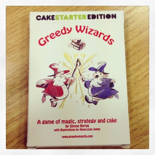 Oooh, my copy of Greedy Wizards has arrived. Backed on Kickstarter a few weeks ago.