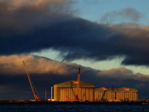 Dramatic light over Nigg