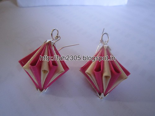 Handmade Jewelry - Origami Paper Diamond (Unit) Earrings (8) by fah2305