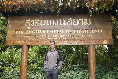Andrew at the top of Doi Inthanon