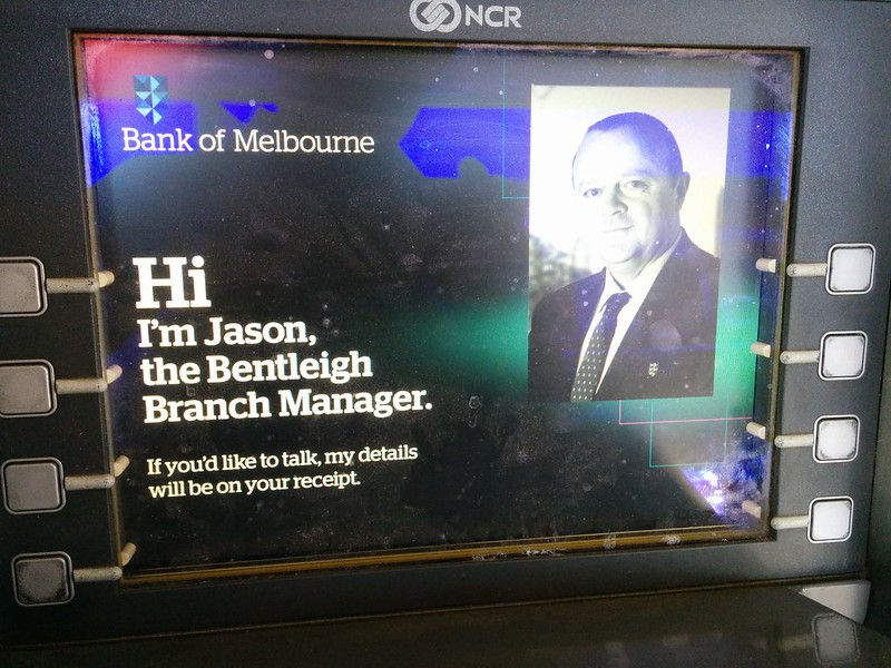 Bank of Melbourne ATM: frozen