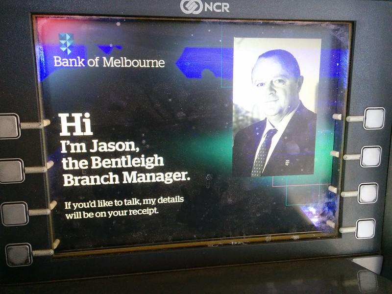 Bank of Melbourne ATM: frozen
